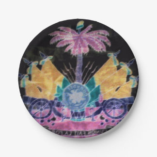 AYITI CHERI HAITI HONEY MandyMonumental DESIGN 7 Inch Paper Plate