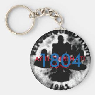 AYITI CHERI HAITI HONEY MandyMonumental DESIGN Basic Round Button Key Ring