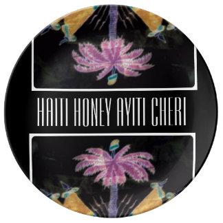 AYITI CHERI HAITI HONEY MandyMonumental DESIGN Porcelain Plate