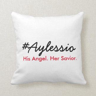 #Aylessio, His Angel, Her Savior Throw Pillow