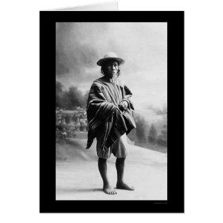 Aymara Indian in Bolivia 1905 Greeting Card