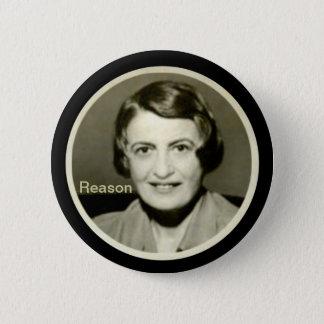 Ayn Rand 6 Cm Round Badge
