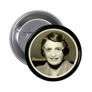 Ayn Rand 6 Cm Round Badge