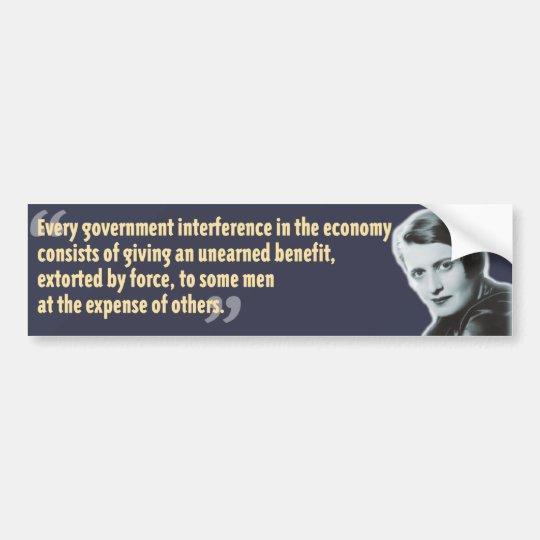 Ayn Rand bumpersticker Bumper Sticker