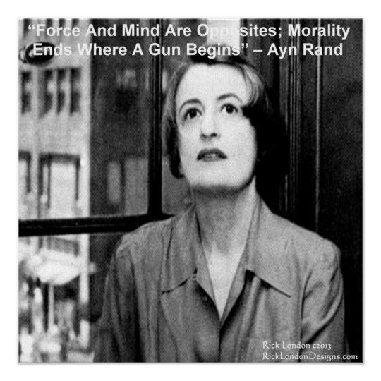 Ayn Rand Graphic & Famous Quote Poster