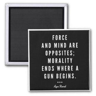 Ayn Rand Gun Quote Magnet