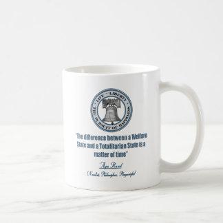 Ayn Rand Quote on Welfare Basic White Mug