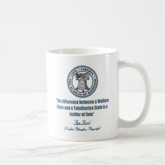 Ayn Rand Quote on Welfare Classic White Coffee Mug
