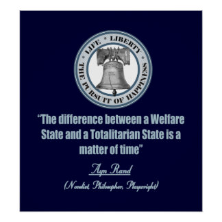 Ayn Rand quote on Welfare Poster