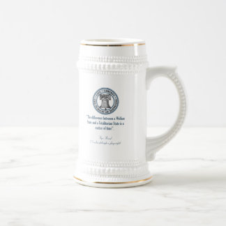 Ayn Rand Quote (Totalitarianism) Beer Stein