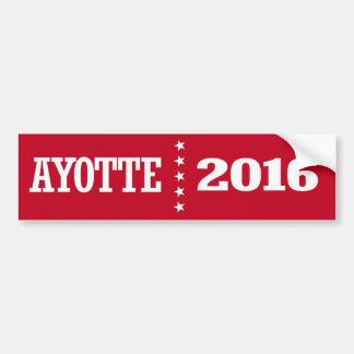 Ayotte - Kelly Ayotte 2016 Bumper Sticker