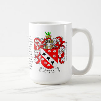 Ayres, the Origin, the Meaning and the Crest Coffee Mug
