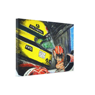 AYRTON Artwork by Jean Louis Glineur Canvas Print