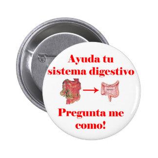 Ayuda tu Sistema Digestivo 6 Cm Round Badge