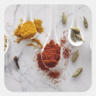 Ayurvedic Warming Spices Square Sticker