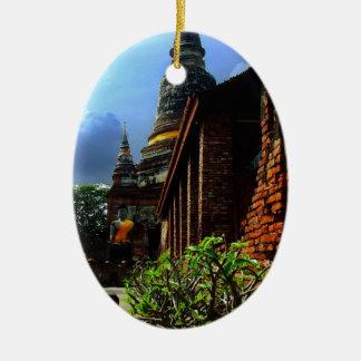 Ayutthaya. Wat Yai Chai Mongkol. Christmas Ornament