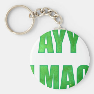 ayy lmao basic round button key ring