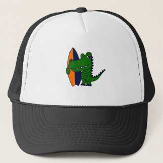 AZ- Alligator Surfer Dude Trucker Hat