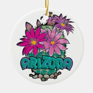 AZ Cactus Blooms Ornament