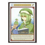 AZ card - Astrology of the Waxing Moon 8.9 X 12.7 インビテーションカード