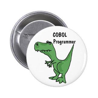 AZ- COBOL Programmer Dinosaur Button