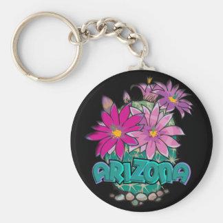 AZ Design Arizona Cactus Blooms Basic Round Button Key Ring