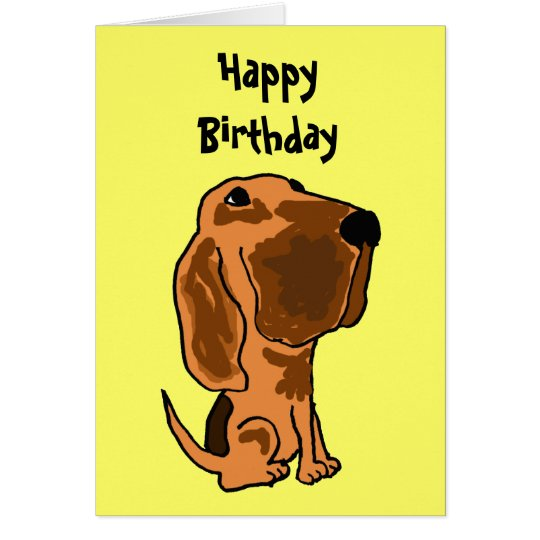 AZ- Funny Bloodhound Birthday Card