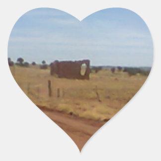 Az Rubble Ranch Heart Sticker