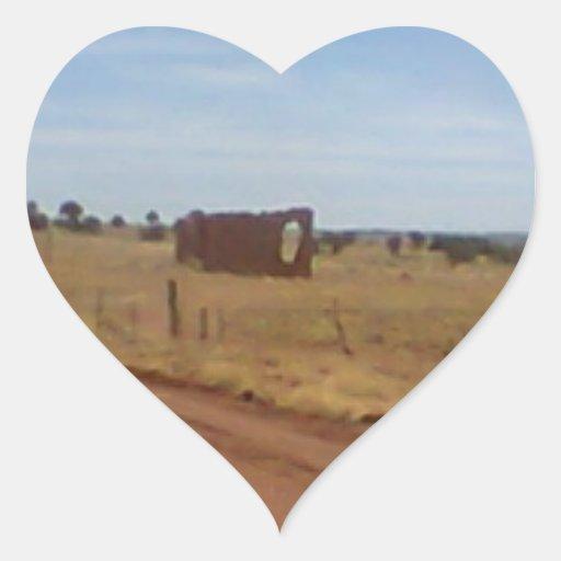 Az Rubble Ranch Heart Stickers