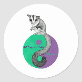 Az Sugar Glider Rescue Round Sticker