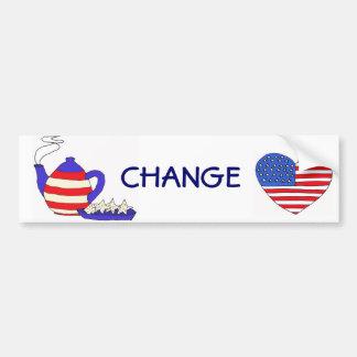 AZ- Tea Party Change Sticker Bumper Sticker