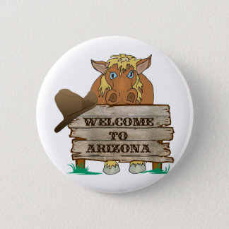 AZ- Welcome to Arizona Horse 6 Cm Round Badge