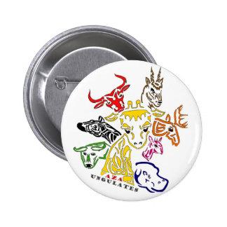 AZA Ungulates 6 Cm Round Badge