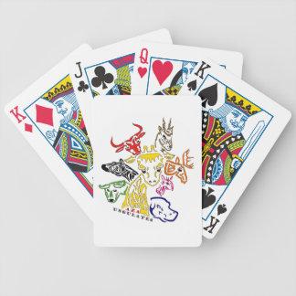 AZA Ungulates Bicycle Poker Deck
