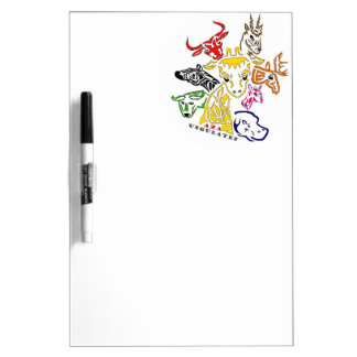 AZA Ungulates Dry Erase White Board