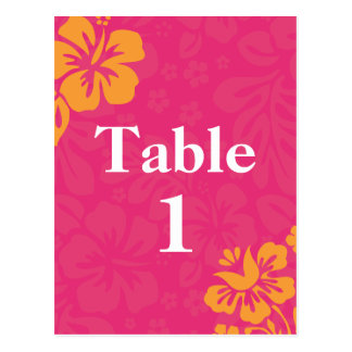 Azalea Beach Flowers Table Numbers Postcard