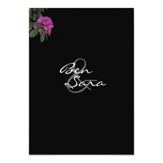 Azalea Black Wedding Invitation