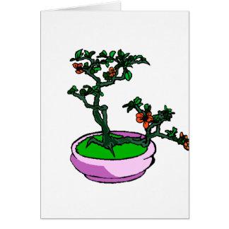 Azalea Bonsai Orange Flowers Bonsai Graphic Note Card