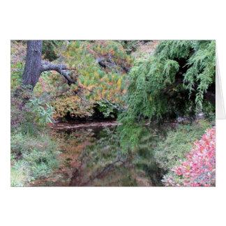 Azalea Garden Reflections Greeting Card