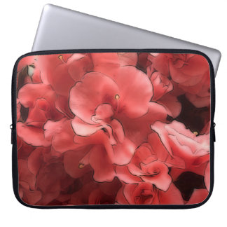 Azalea Pink Petals Neoprene Laptop Sleeve