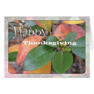 Azalea Thanksgiving Card