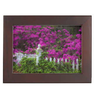 Azaleas in the spring at Historic Isle of Hope Keepsake Box
