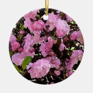 Azaleas in Watercolor Ornament