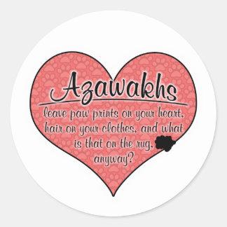 Azawakh Paw Prints Dog Humor Stickers
