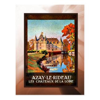 Azay les rideauu, Chateau de Loire Postcard