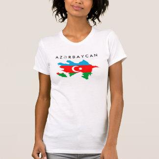 azerbaijan country flag map shape symbol text T-Shirt