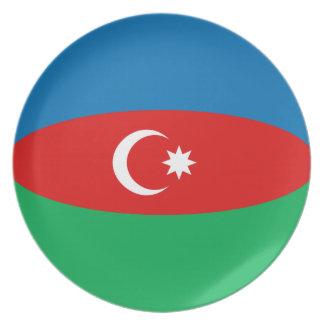 Azerbaijan Fisheye Flag Plate