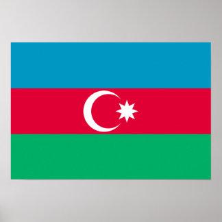 Azerbaijan Flag; Azerbaijani Print