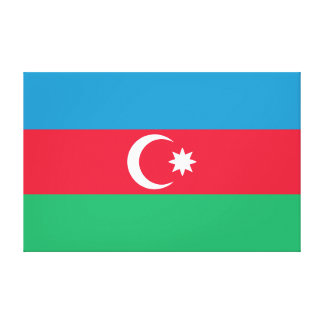 Azerbaijan Flag Gallery Wrap Canvas