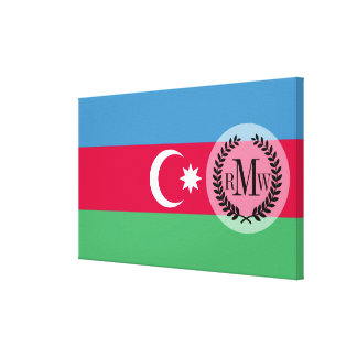 Azerbaijan Flag Canvas Prints
